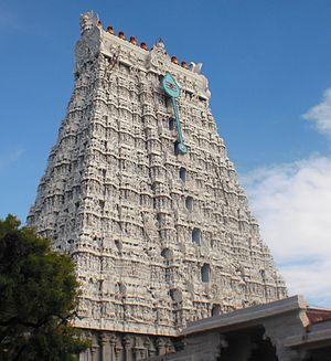 Thiruchendur - View of the Thiruchedur Temple gopuram