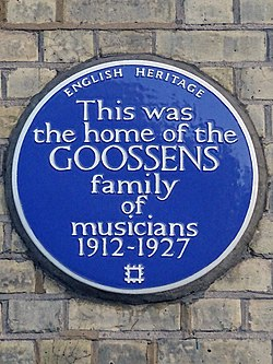 This was the home of the goossens family of musicians 1912 1927