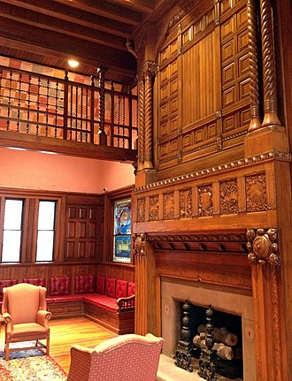 A. H. Davenport and Company - Image: Thomas Crane Library, Fireplace in Richardson Room