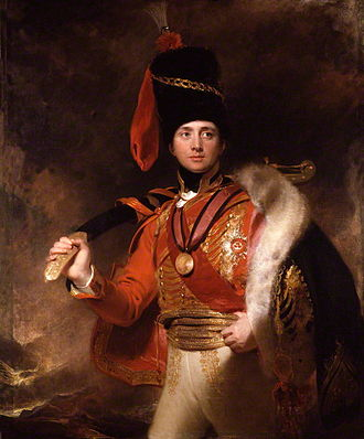 Scimitar - Charles Vane, 3rd Marquess of Londonderry, with a scabbarded kilij of Turkish manufacture (1812).