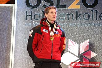 Thomas Morgenstern - After winning gold medal individually in Oslo 2011.