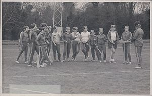Thomond College of Education, Limerick - TCPE students playing camogie, c. 1976