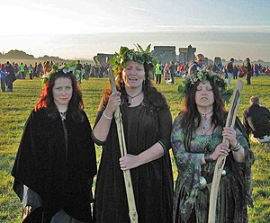 Three female druids
