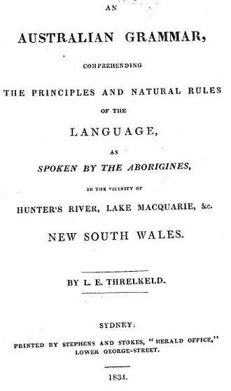 An Australian Grammar - Image: Threlkeld 1834