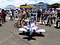 Thundertigers AT-3 Shaped Trailer Towed by Bicycle on Tainan Air Force Apron 20130810b.jpg