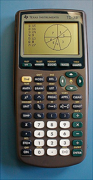 Comparison of Texas Instruments graphing calculators - Image: Ti 73 Graphing Calculator