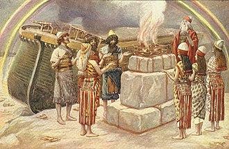Vayikra (parsha) - Noah's Sacrifice (watercolor circa 1896–1902 by James Tissot)