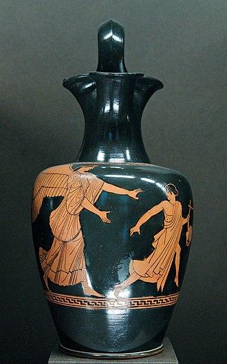 Oenochoe - Image: Tithonos Eos Louvre G438