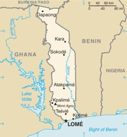 Togo - Mappa