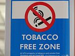 Tobacco Free Zone at Airport station, Aug 15.jpg
