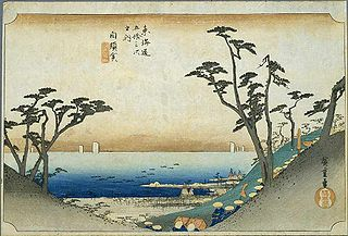 東海道五十三次 (浮世絵) ~白須賀宿(保永堂版)- Wikipedia