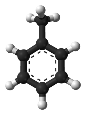 Toluene - Image: Toluene from xtal 3D balls