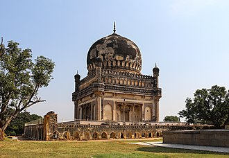 History of Hyderabad - One of the Qutb Shahi tombs