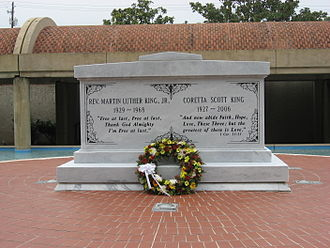 Martin Luther King Jr. National Historical Park - Martin Luther King Jr. and Coretta Scott King tomb in the Sweet Auburn district, preserved within the Martin Luther King Jr. National Historic Site