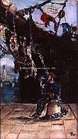 Toulouse-Lautrec - MARIN ASSIS SUR UN QUAI DEVANT UN BATEAU, 1880, MTL.21.jpg