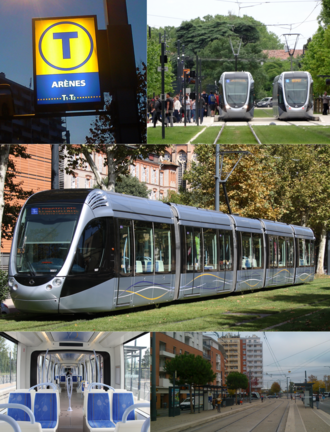 Toulouse tramway - Image: Toulouse Tram Collage