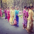 Traditional Thai Dancers Prepare To Perform for President Obama (8195948097).jpg