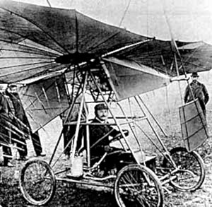 Traian Vuia - Traian Vuia in his Vuia I flying machine in 1906