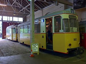 Bergen's Electric Tramway - Image: Tram 160 at Bergens Tekniske Museum