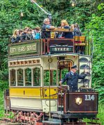 Tram No. 114, Beamish Museum, 13 November 2013 (2) (cropped).jpg