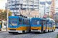 Tram in Sofia near Russian monument 017.jpg