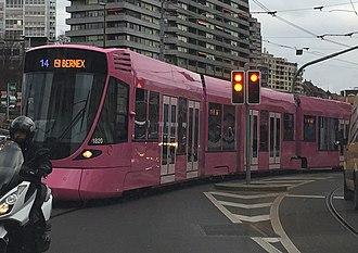 Pipilotti Rist - Pink tramway in Geneva, by Pipilotti Rist