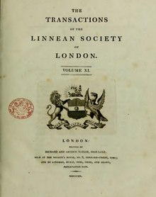 Transactions of the Linnean Society of London, Volume 11.djvu