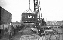 Transferring LMS freight containers (CJ Allen, Steel Highway, 1928).jpg