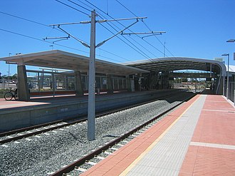 Rockingham railway station, Perth - Platforms in December 2007