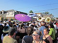 Treme Black Men of Labor Parasols and Sousaphones.JPG