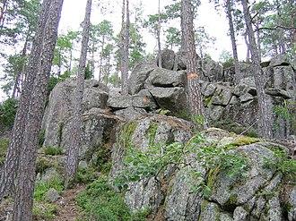 Tiveden - Image: Trollkyrka trail 1