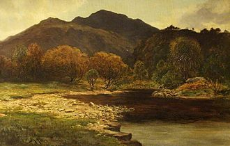 James Alfred Aitken - The Trossachs, 1881 painting by James Alfred Aitken