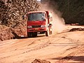 Truck on Afobaka road.JPG