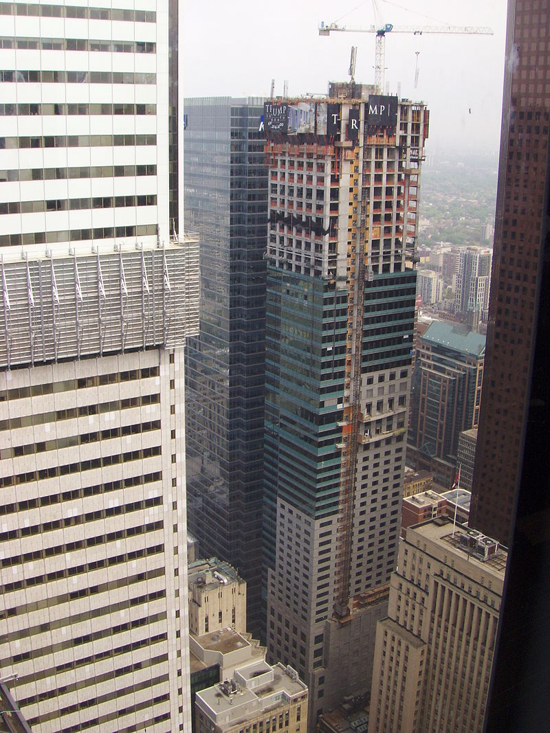 Trump Tower viewed from exec office Toronto-Dominion Building during 2011 Doors Open Toronto.jpg