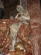 Truth, by Bernini, tramples England beneath her foot.