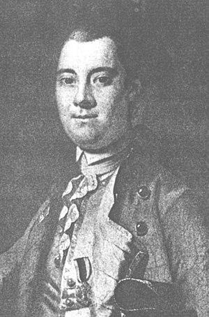 William Tryon - Alleged portrait, 1767. This portrait depicts incorrect regimental uniform and ornamentation.