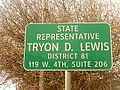 Tryon D. Lewis office sign, Odessa, TX DSCN1272.JPG