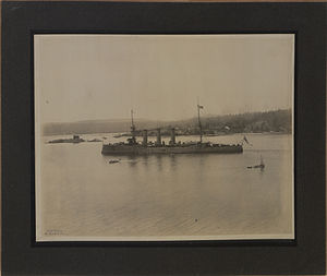 Pacific Station - Unknown Monmouth-class cruiser in Esquimalt Harbour, 1906