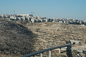 Gilo - View of Gilo from Beit Jala