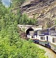 Tunnels on the Kicking Horse route of the Canadian Pacific railway in British Columbia - panoramio.jpg