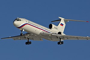 Tupolev Tu-154B-2 (RA-85572) on final approach at Chkalovsky Airport.jpg
