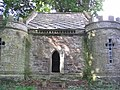 Turreted doocot in Pitmuies Gardens - geograph.org.uk - 1443568.jpg