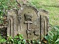 Tynron parish church, Dumfries and Galloway, Scotland. Symbols on an old gravestone.jpg