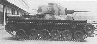 Type 97 ShinHoTo Chi-Ha medium tank - Side view of Type 97 Shinhoto Chi-Ha