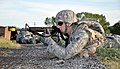 U.S. Air Force Senior Airman Michael Duvall, with the 931st Security Forces Squadron, aims an M4 carbine during a field training exercise at McConnell Air Force Base, Kan., Aug. 5, 2012 120805-F-BZ556-007.jpg