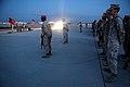 U.S. Marines with Combat Logistics Regiment 2, 2nd Marine Logistics Group, pay tribute to victims of 9-11 during Enhanced Mojave Viper (EMV), on Marine Corps Air Ground Combat Center Twentynine Palms, Calif 120911-M-KS710-015.jpg