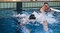 U.S. Marines with the 1st Battalion, 5th Marine Regiment, Marine Rotational Force-Darwin perform a swim test during a meritorious sergeant board at Robertson Barracks, Darwin, Australia, April 17, 2014 140417-M-GO800-021.jpg