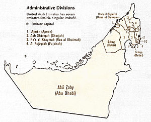 Non-sovereign monarchy - Subdivisions of the United Arab Emirates