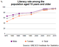 UIS Literacy Rate Kuwait population plus15 1975 2015.png