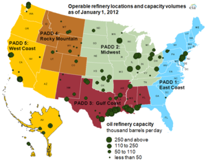 Petroleum refining in the United States - USEIA - Map of US Oil Refineries